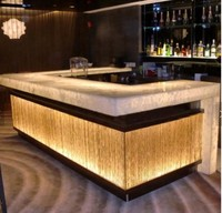 hot sale translucent acrylic lighted bar counter,artifical stone elegant bar furniture counter