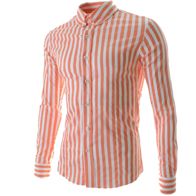 6e6736f8ed44 Get Quotations · 2015 New Arrival Spring Summer Men Shirt Fashion British Style  Stripe Long-sleeved Casual Shirt