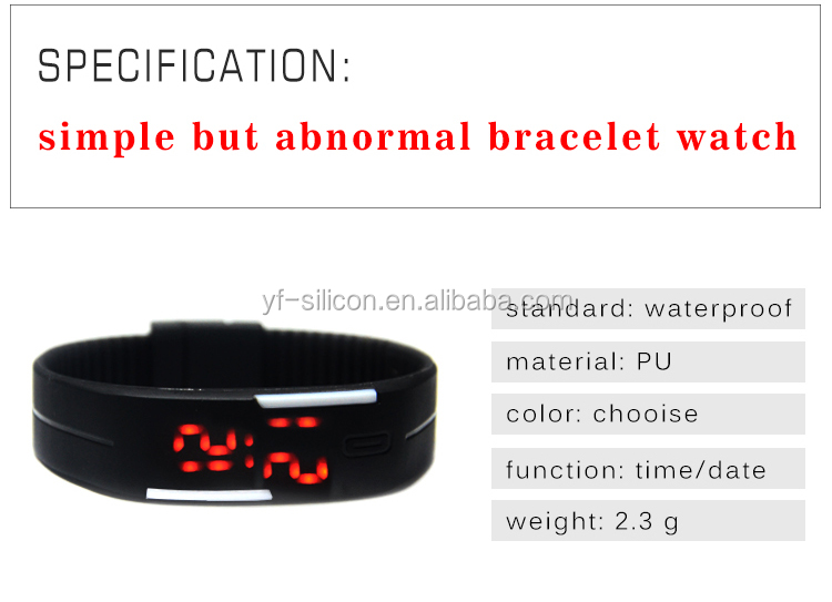 2016 Top Selling Fashion Digital Bracelet Watch LED Sports Wrist Watch