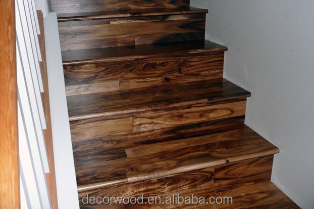 Acacia Wood Stair Treads Solid Wood Design Stair Parts