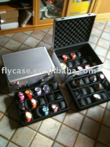 2012 new design Aluminum watch display case
