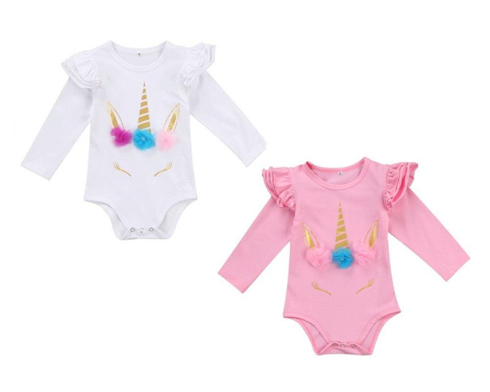 Newborn Baby Girl Animal Romper Bodysuit Jumpsuit Playsuit Summer Clothes Outfit