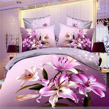 2017 Latest Design Korean Bed Set Printed Custom Sheets