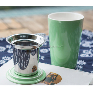 Creative ceramic cup with filtering tea every flower cup Office Mug Cups