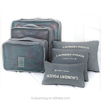 eacd93008963 travel storage bags organizer waterproof clothes packing cube luggage  organizer pouch 6PCS storage bag storage box