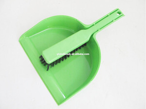HQ0333 with hook plastic home green broom and dustpan