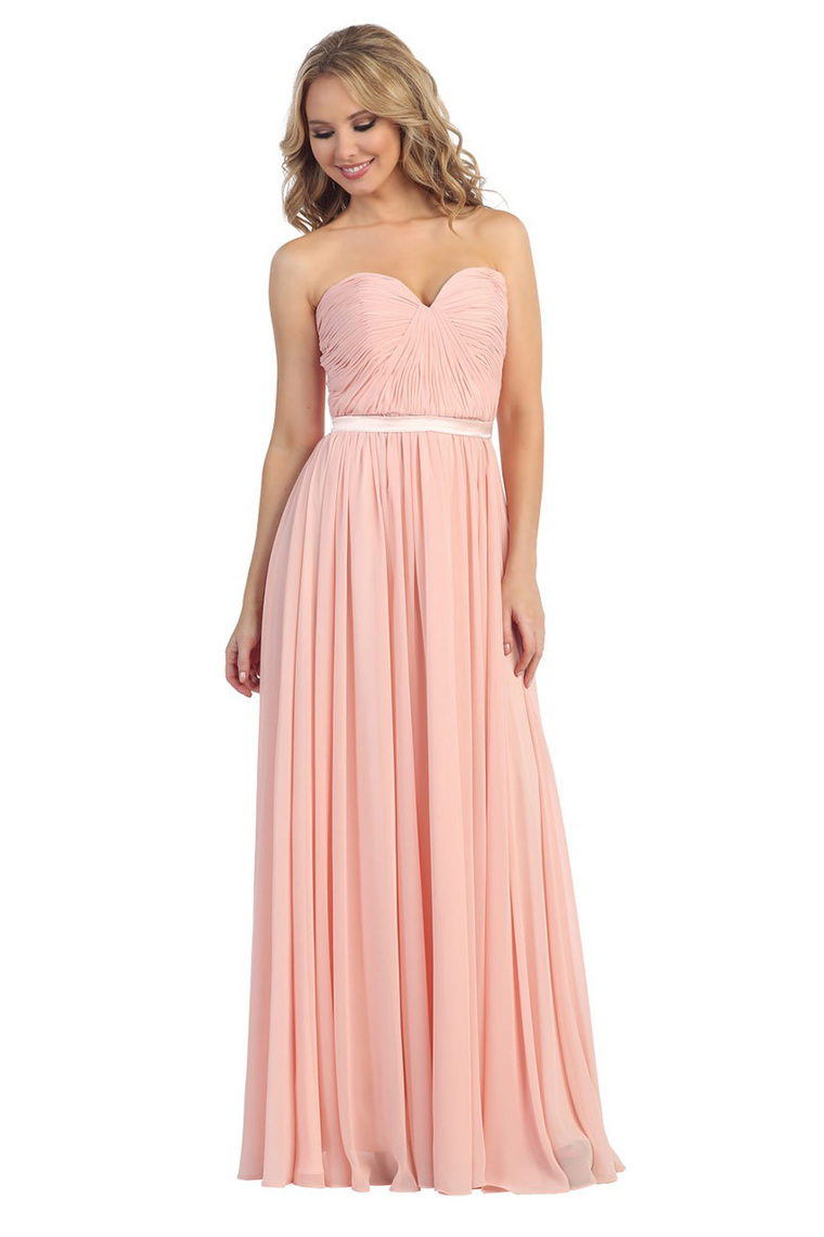 f3b03fcea9ee Get Quotations · Sweetheart Chiffon Ruffle Floor Length Long Dusty Rose  Peach Beach Bridesmaid Dresses Vestido Longo Rosa,