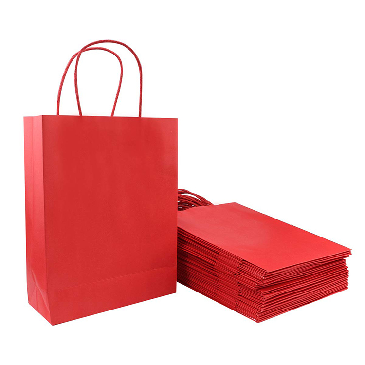Custom Recycled Logo Printing Coated Clothing Paper Bag With Handle