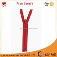 3# free sample nylon zipper for fashion dress and kids dress boy