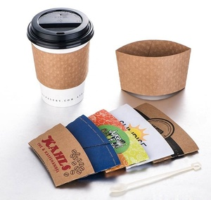 custom printed paper cup sleeve for hot coffee drink