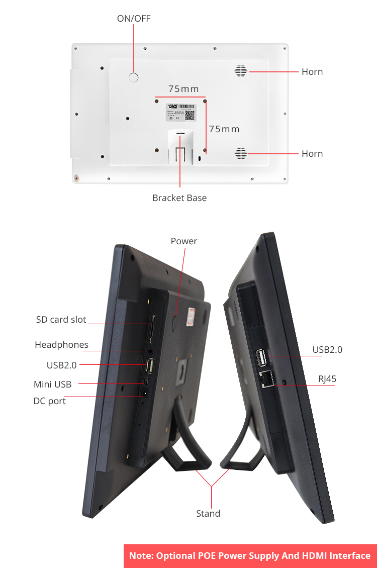 """15.6 """"หน้าจอสัมผัส displau All-in-One PC สำหรับสมาร์ทระบบควบคุมสัมผัส"""