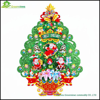 Merry Christmas Tree Stickers Christmas Tree Wall Stickers Gold Foil Christmas  Trees Decorative Sticker Part 56