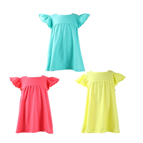 Hign quality persnickety teenage girls short sleeve dresses ruffle short sleeve tunic flower girl dresses for 6 year olds