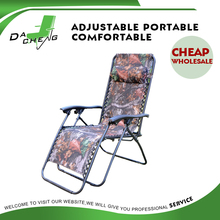 Folding zero gravity chair with side tea table, portable recliner chair, garden lounge chair