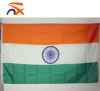 100% polyester high quality outdoor or indoor india national flag