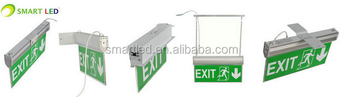 Led Exit Sign Ip33 Emergency Light Ce Rohs Saa 3 Years Warranty ...