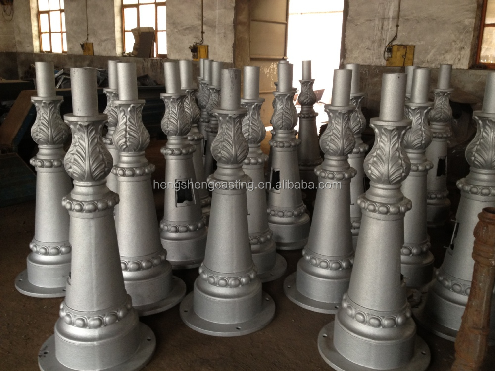 New Product Led Garden Light Cast Iron Light Pole 6m