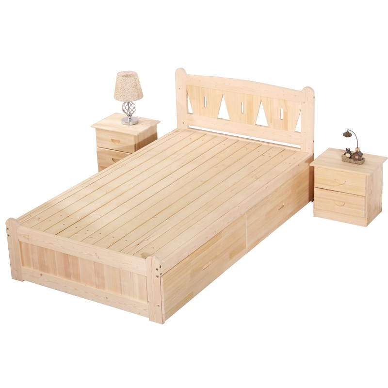 Children Single Pine Wood Bed 1 Meter Bedroom Furniture Small Student Bed -  Buy Design Furniture Bedroom Single Bed,Bed For Small Bedroom,Furniture ...