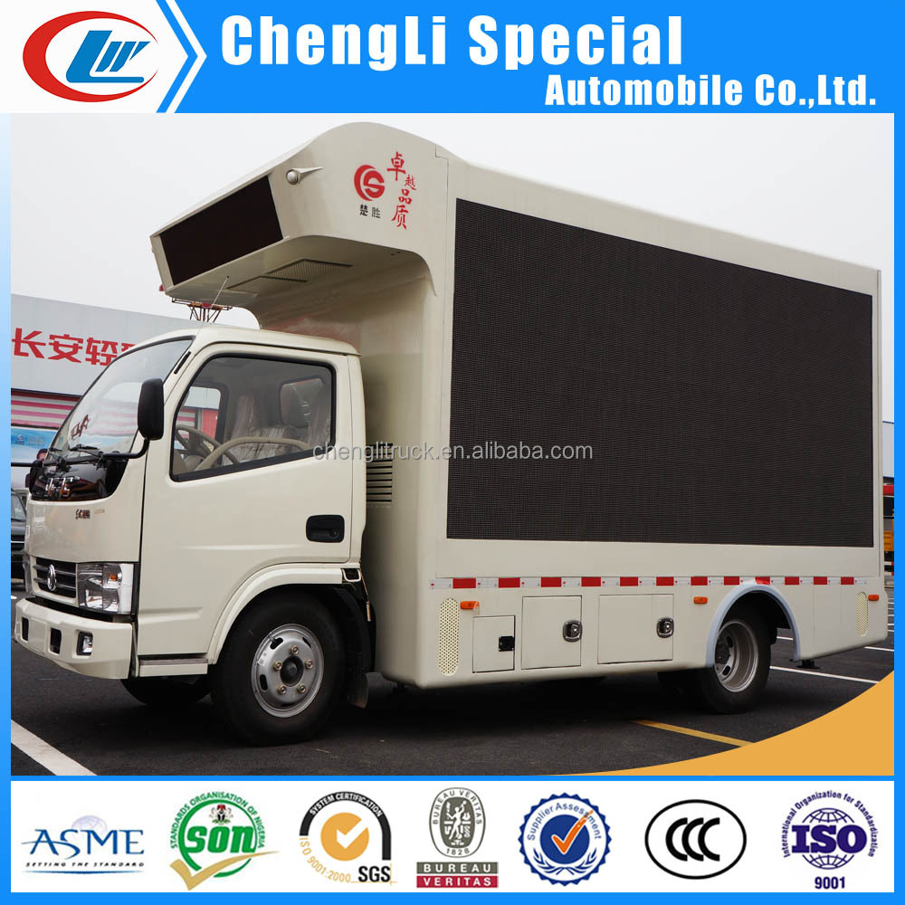 Rwanda Mobile Installation Truck with Advertisement LED Panel for sale