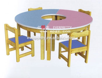 Colorful School Furniture Foldable Cafe Children Kids Juvenile Study Table  And Chairs