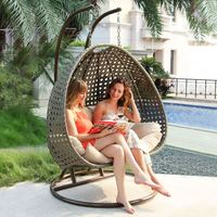 Outdoor Activity Patio Wicker Egg Shaped Swing Chair Rattan