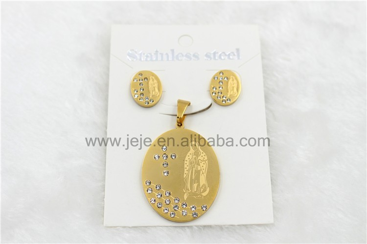 Stainless Steel Vogue 18k Gold Jewelry Sets Greek Goddess Jewelry