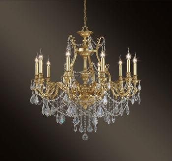 Französisch Jugendstil Kronleuchter Kristall Messing Bronze Kronleuchter  Lampe