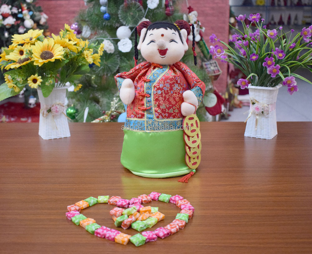 2018 Lucky girl chinese new year decoration items with best price