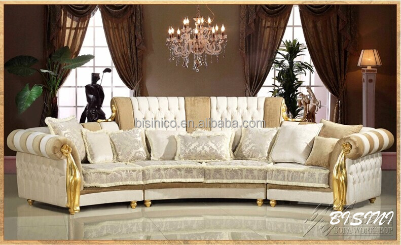 english romantic furniture bright color classic sectional. Black Bedroom Furniture Sets. Home Design Ideas