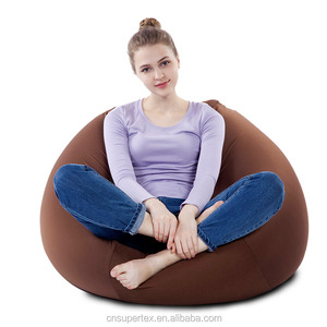 LUCKYSAC Adult Lounger Brown Bean Bag Chair Lazy Sofa Lounge Seat Floor Bed Balcony Rest Chair