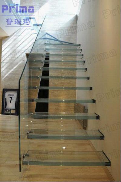 Luxurious Aluminum Glass Railing Stair Laminated Glass Treads ...