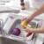 Wholesale fruit silicone folding fruit vegetable drain collapsible basket