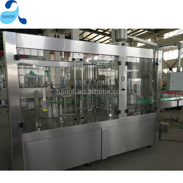 3in1 Machinery factory cost/ automatic mineral water plant machinery/ water filling plant