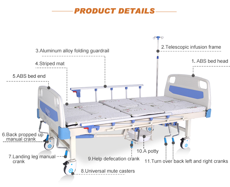 Manufacturer Cheap Medical Handicapped Power Home Nursing Bed For Elderly