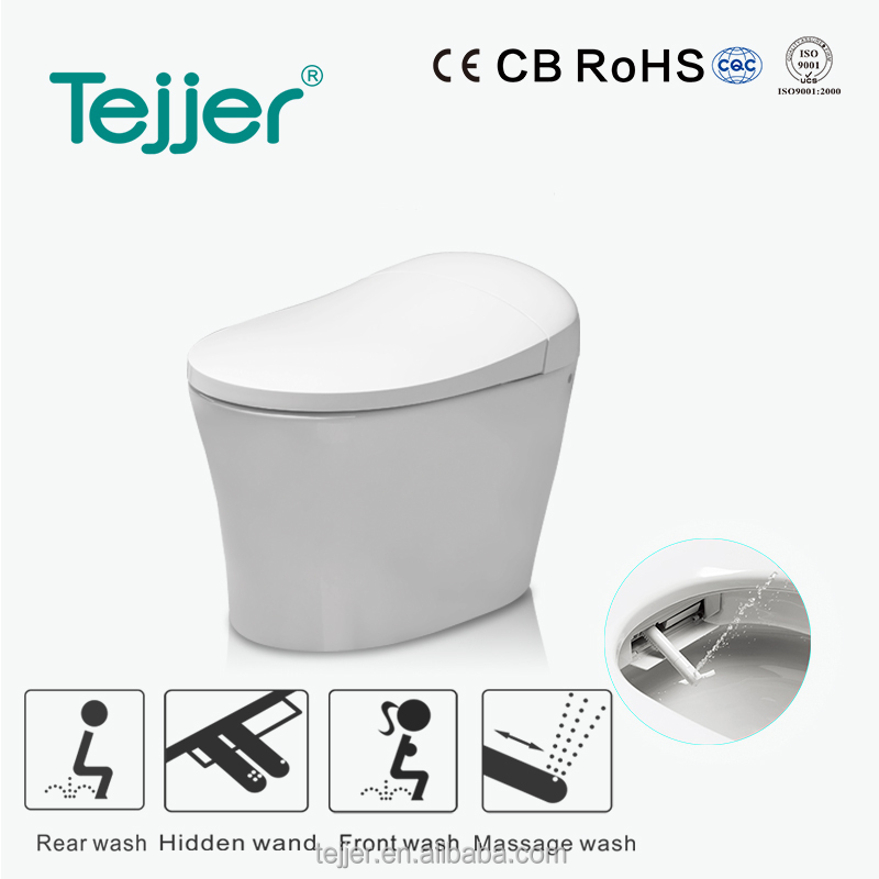 Automatic smart sensor toilet with body leave auto flushing