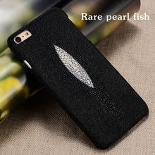 Manufacturers Sales Luxury natural Stingray genuine Genuine leather case for Huawei P9 Plus VIE-AL10 Mobile phone