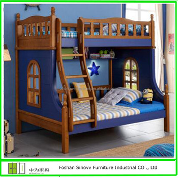 Wooden Children Double Bunk Beds Kids Bunk Beds With
