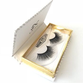 Free sample Handmade private label Synthetic False Mink Eyelashes individual 3D Silk Lashes