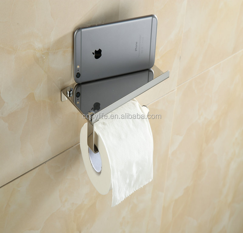Stainless Steel Toilet / Kitchen Paper Napkin/Tissues Box / Holder with platform