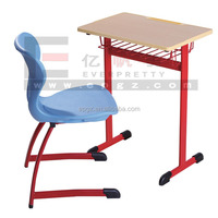Classroom Reading Table and Chairs, Reading School Table Plastic Chair with Pvc injection mould edge