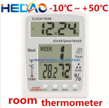 LCD Digital Thermometer Hygrometer Temperature Humidity Meter Clock Indoor Use very small digital clocks