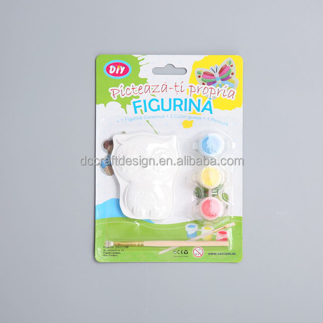 Owl gypsum kit education equipment for kids