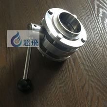 <span class=keywords><strong>Stainless</strong></span> Steel Tiga Potong Welded Butterfly Menangani Makanan Susu Industri Bir Aksesoris Pipa Fittings 304 316L Din 3A SMS
