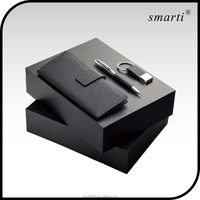 2016 high quality promotional office business men wowen pen credit card holder key chain corporate wholesale gift sets items