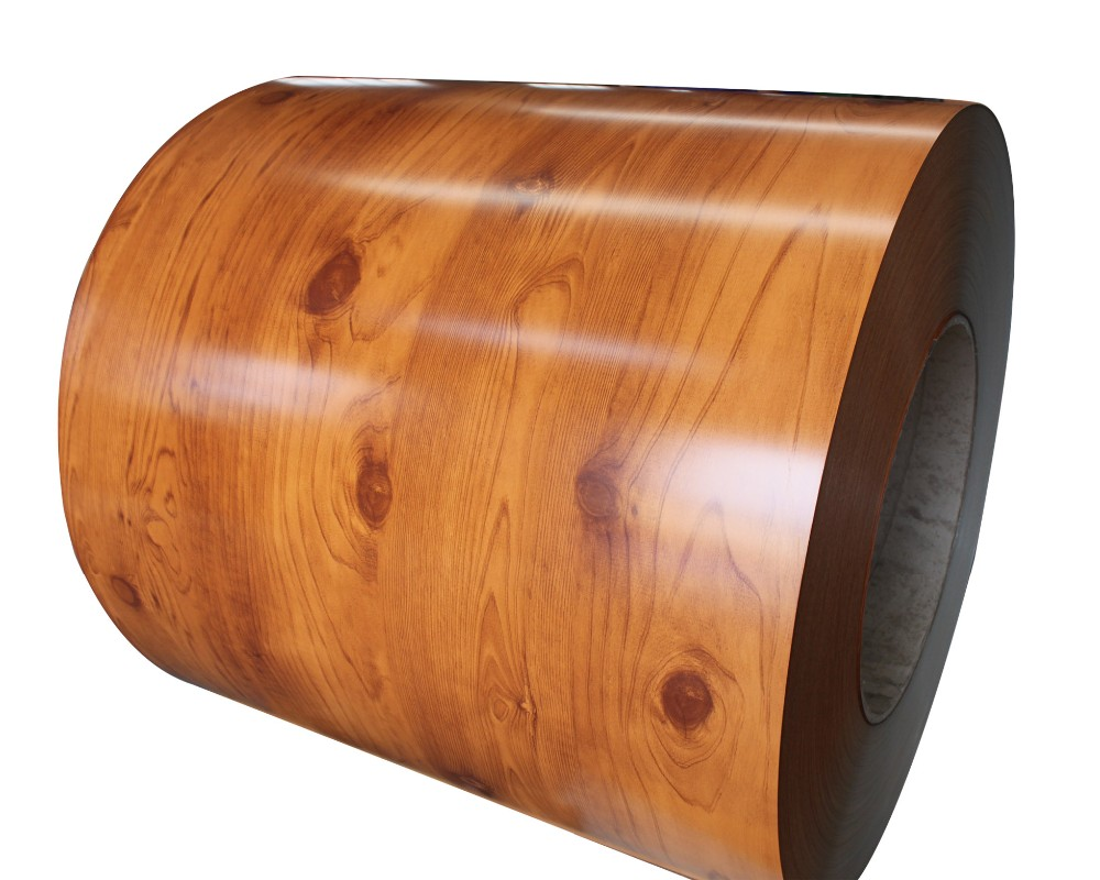 Metal and aluminum wood grain color coated steel sheet in coil/PPGL