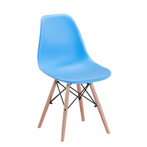 China product good quality living room furniture customized chair leather wooden leg plastic chair solid wood dining chair