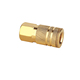 1/4 inch Miltion type brass air quick coupler in Pneumatic tools parts