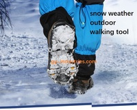 High Quality Crampons Ice Climbing Silicone Crampons For Shoes Safety Anti Slip Snow Ice Gripper Crampons