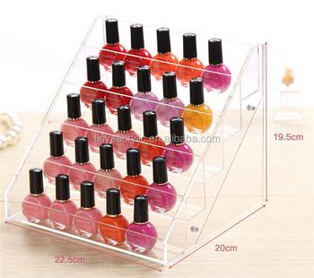 2017 Shop Counter Custom Clear Acrylic Nail Polish Display Rack 5 ...