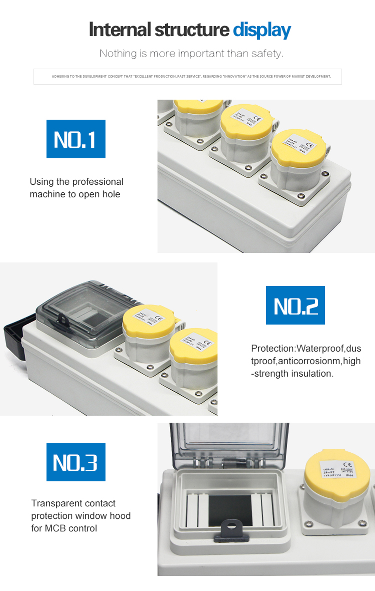 IP65 Waterproof Combination Industrial Socket Box
